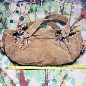 DESMO, Large Italian Leather Bag, Color Light Fawn